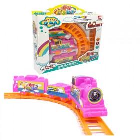 趣味轨道小火车套装拼插电动儿童益智玩具3-6岁男孩