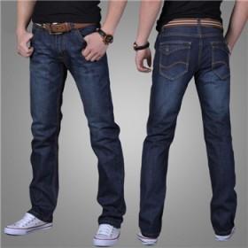 男士牛仔裤男中腰弹力宽松直筒常规长裤子