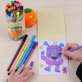 多彩多色儿童可水洗彩笔套装幼儿园小学生绘画用品12