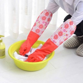 厨房耐用加厚清洁家务手套 加绒洗碗洗衣服家务清洁防