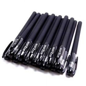 多色中性笔0.5子弹头针管头黑笔 学生用品碳素笔水