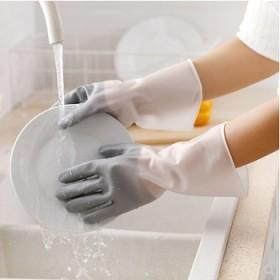 5双装家务洗碗手套乳胶胶皮橡胶厨房清洁防水塑胶手套