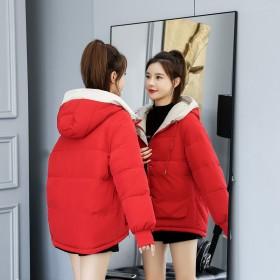 韩版短款加厚保暖羽绒棉衣