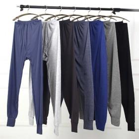 2条 男士秋裤纯棉内衣保暖裤薄款中老年宽松加肥大衬