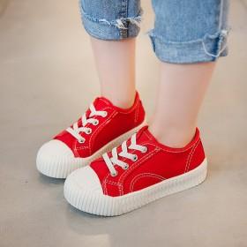 儿童帆布鞋2020春季新款女童小白鞋男童鞋