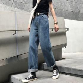 2019新款韩版高腰复古直筒牛仔裤女宽松气质百搭显