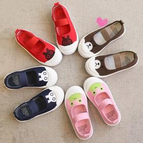 儿童透气帆布鞋 女宝宝童鞋