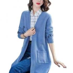 毛衣外套女中长款韩版新款女士针织开衫宽松秋冬外搭