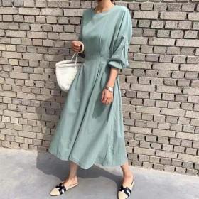 现货韩国早春新款连衣裙