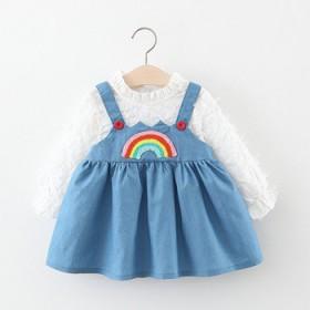 女童连衣裙春款时尚长袖公主裙