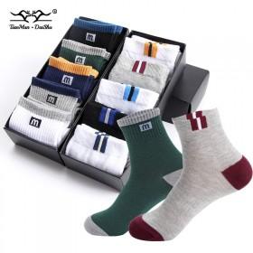 【品牌质保十双装】秋冬款男中筒袜子男士短袜隐形船袜