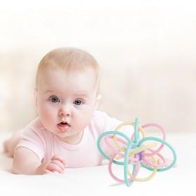 曼哈顿手抓球宝宝3-6-12个月益智牙软胶可啃咬8