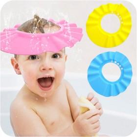 2个装宝宝洗头浴帽可调节洗发帽婴儿洗澡帽儿童防水帽