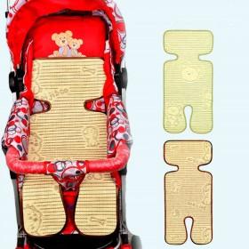 婴儿车凉席儿童宝宝手推车坐垫子夏季新生儿亚麻草席餐