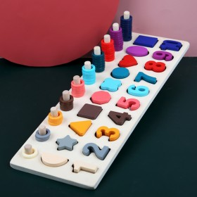 童玩具积木早教益智力 1-2岁半3男孩配对板