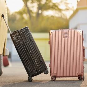花花公子20寸旅行箱行李箱铝框拉杆箱万向轮登机箱子