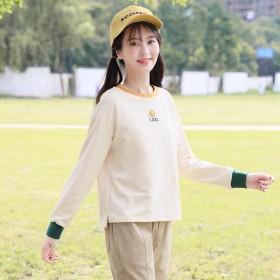 15岁初高中学生女孩春季卫衣长袖T恤