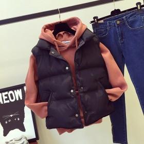 秋冬新款羽绒棉马甲女显瘦宽松面包服百搭外套