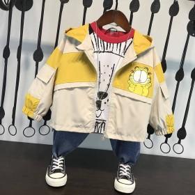 男童秋装外套新款韩版连帽中小童宝宝洋气儿童夹
