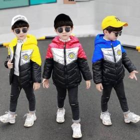 男童短款洋气棉衣新款韩版加厚冬装儿童棉服男孩