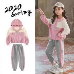 女童网红套装秋装新款潮童装儿童女洋气韩版运动服