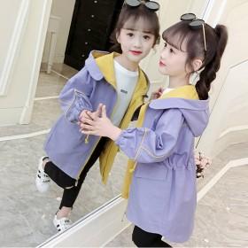 新款潮女孩洋气春装女童春季韩版上衣儿童春秋外套