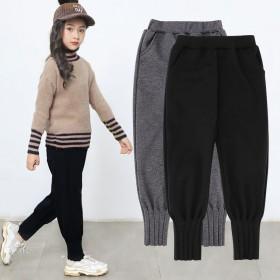 女童外穿秋冬款长裤洋气休闲裤子中大儿童宽松运动哈伦