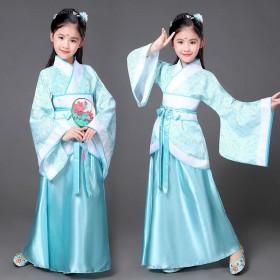 清仓中小童古装仙女裙装公主贵妃影楼写真舞蹈演出汉服