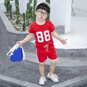 宝宝夏装套装儿童T恤短裤韩版洋气潮装男童夏季帅气女