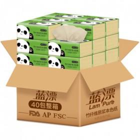 限量 40包抽纸原木纸巾整箱餐巾纸卫生纸本色面巾纸