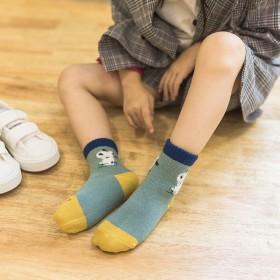 【10双】傲婉专柜儿童棉袜春秋中筒动物绣花宝宝袜