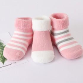 【拍2套6双】傲婉加厚宝宝棉袜新生儿童袜毛圈袜