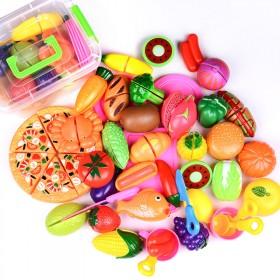 儿童可切水果蔬菜玩具过家家厨房组合宝宝早教男孩女孩