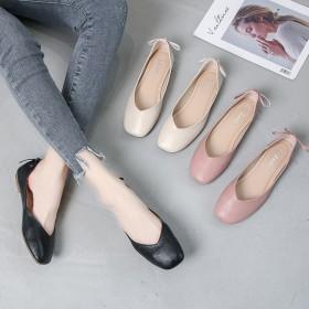 大码平底单鞋奶奶鞋休闲百搭方头小码女鞋耐磨软底鞋