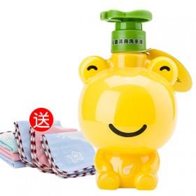 青蛙王子儿童清爽洗手液320ml温和洁净送方巾