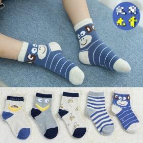(5双装)秋冬季新款儿童棉袜子