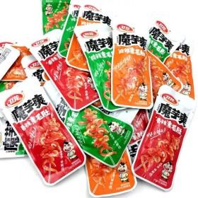 卫龙魔芋爽素毛肚丝盒装香酸辣条麻辣休闲食品儿时网红
