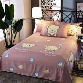双人床单230X250米磨毛床单不掉色不起毛