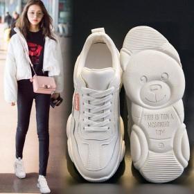 女老爹鞋女网面运动鞋学生韩版百搭透气小白鞋女单鞋