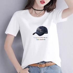 短袖2020新款宽松韩版印花上衣女潮T恤打底