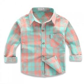 2020纯棉长袖衬衫薄款儿童格子衬衫小童男童衬衣婴