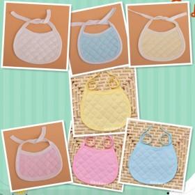 7条装全棉婴幼儿围嘴围兜生态棉圆边宝宝围兜口水巾
