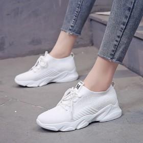 女鞋韩版百搭小白鞋厚底显瘦运动休闲女单鞋