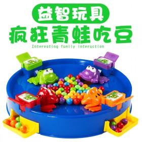 【抖音同款】儿童青蛙吃豆疯狂贪吃亲子双人玩具