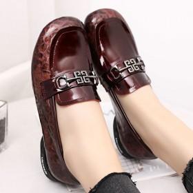 2020新款英伦风小皮鞋春款女鞋一脚蹬平底单鞋