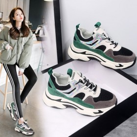 街拍运动鞋女学生ins超火潮百搭跑步鞋