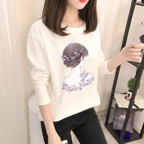 2020春秋新款韩版爆款女式长袖T恤女打底衫学生
