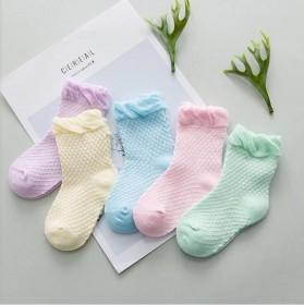 【拍2套共10双】夏薄款宝宝棉袜儿童网袜男女童