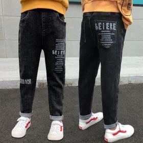 男童牛仔裤童裤男童休闲裤运动裤
