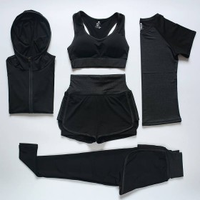瑜伽服套装女健身服修身显瘦跑步服运动套装速干